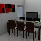 Grant two bedroom granny flat dining room.