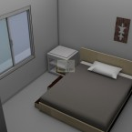 main bedroom from the Grant granny flat design
