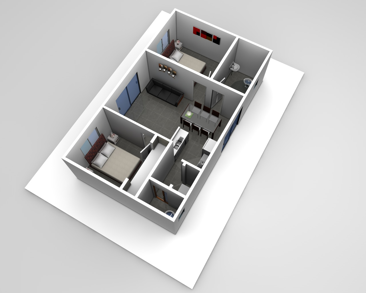 best 2 bedroom flat design plans. Oblique View 2 Two Bedroom Granny Flat Designs  The Serge Plans Sydney
