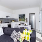 living and kitchen at granny flat in NorthRocks