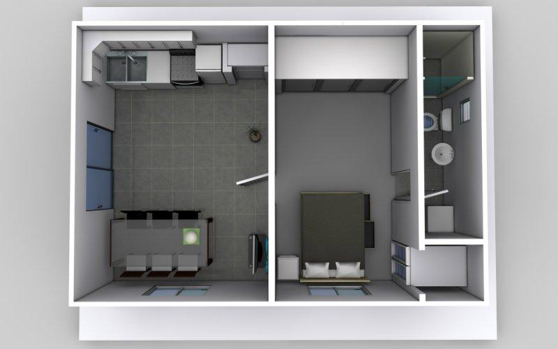 The Bachelor One Bedroom Granny Flat Design