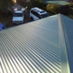 Colorbond roof at seven hills NSW granny flat