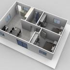 The Grant granny flat floor plan