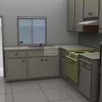 The Grant two bedroom granny flat kitchen