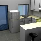 granny flat kitchen 3d