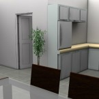 living space granny flat render