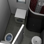 bathroom render of granny flat