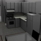 small kitchen render