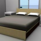 bedroom render of granny flat