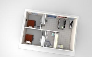 The Grant - 2 Bedroom Granny Flat design