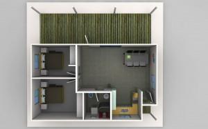 The Joseph - 2 Bedroom Granny Flat Design