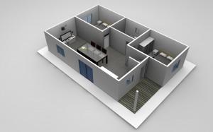The Melanie - 2 Bedroom Granny Flat Design