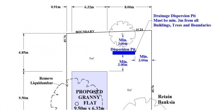 granny flat drainage