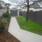 walkway to garage at kings park , blacktown granny flat